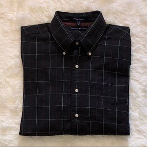 TOMMY HILFIGER—Men's Charcoal Print Button Down!!